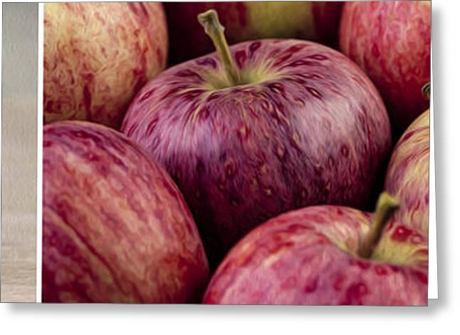 Panos Greeting Cards - Apples 01 Greeting Card by Nailia Schwarz