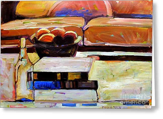 Richard Diebenkorn Greeting Cards - Apples and Oranges in Light Greeting Card by Charlie Spear
