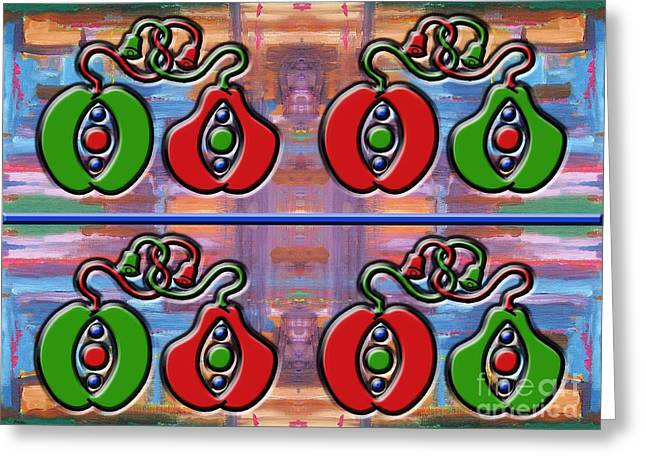 Pear Mixed Media Greeting Cards - Apples And Pears Greeting Card by Patrick J Murphy
