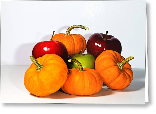Fuselier Greeting Cards - Apples and Pumpkins2 Greeting Card by Cecil Fuselier