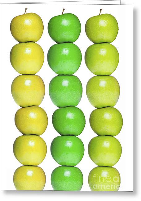 Yellow Apples Greeting Cards - Apples Greeting Card by Diane Diederich