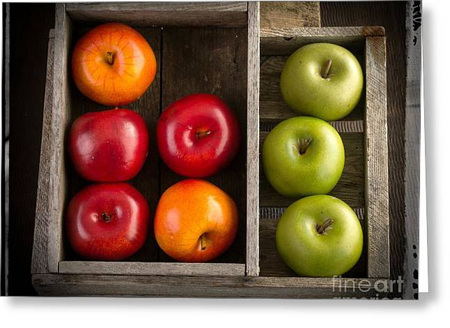 Apple Crates Greeting Cards - Apples Greeting Card by Edward Fielding