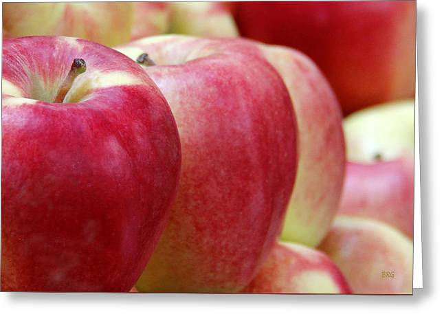 Yield Greeting Cards - Apples For Sale Greeting Card by Ben and Raisa Gertsberg