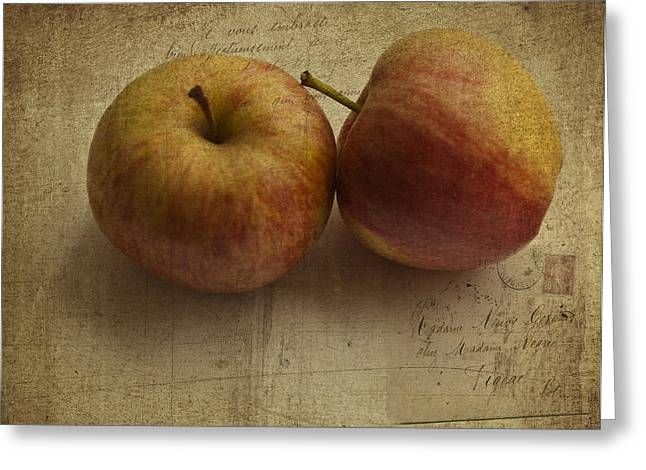Vector Image Photographs Greeting Cards - Apples Greeting Card by Nomad Art And  Design