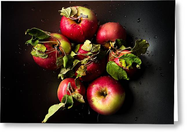 Drops Greeting Cards - Apples Greeting Card by Ivan Vukelic