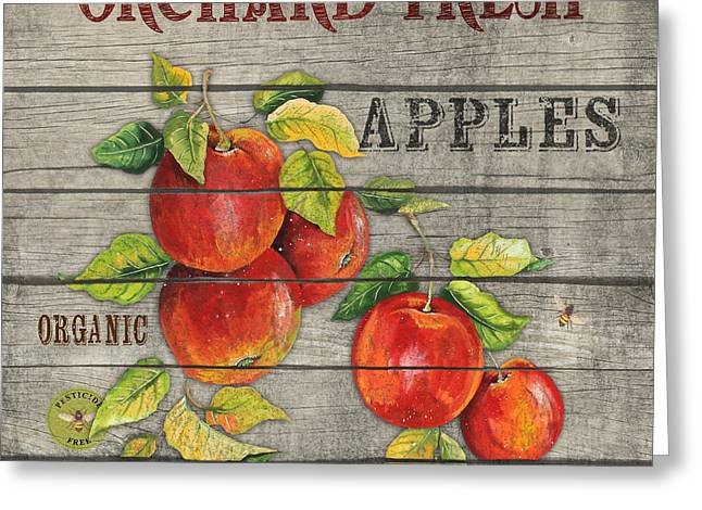 Locally Grown Greeting Cards - Apples-JP2674 Greeting Card by Jean Plout