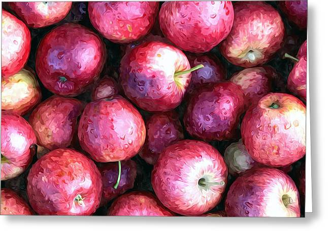 Organic Greeting Cards - Apples Greeting Card by Lanjee Chee