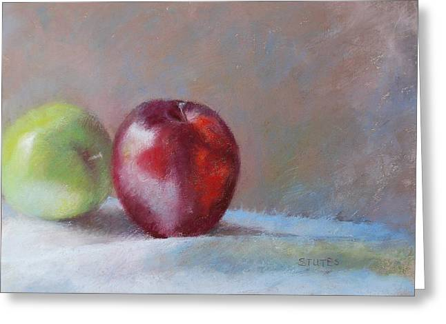 Apples Greeting Card by Nancy Stutes