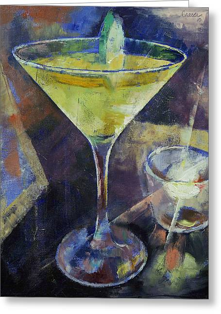 Appletini Greeting Card by Michael Creese