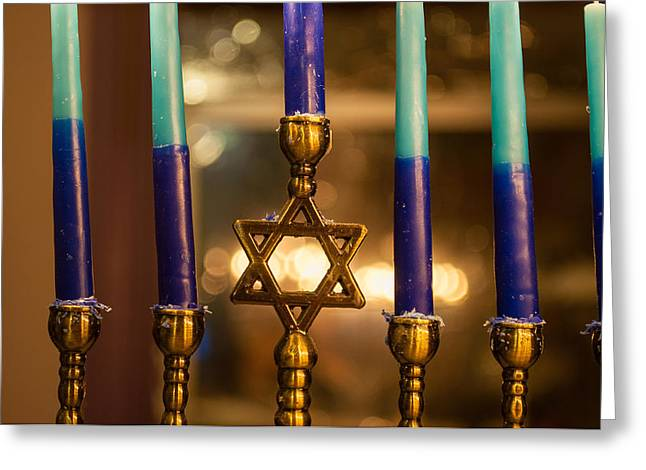 Hanukah Greeting Cards - Appointed Lights Greeting Card by Roger Reeves  and Terrie Heslop