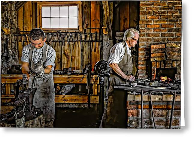 Apprentice Greeting Cards - Apprentice and Master Greeting Card by Steve Harrington