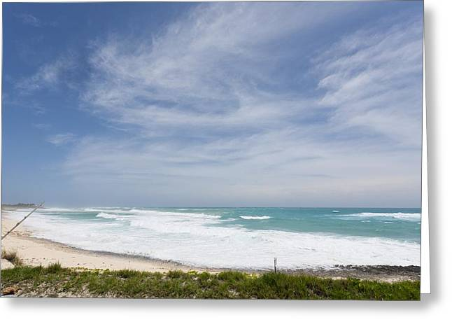 Calming The Storm Greeting Cards - Approach of Hurricane Irene Greeting Card by Science Photo Library
