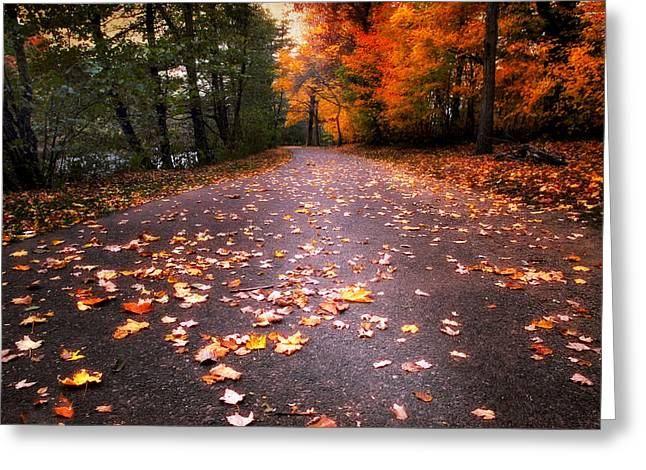 Approach Digital Art Greeting Cards - Approaching Autumn Greeting Card by Jessica Jenney