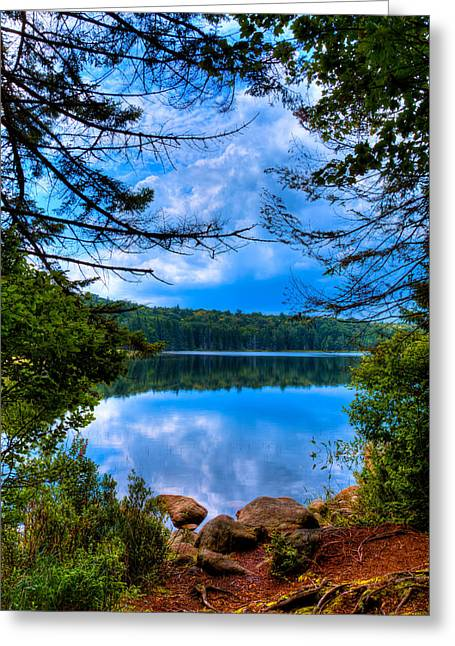 Lush Green Greeting Cards - Approaching Bubb Lake Greeting Card by David Patterson