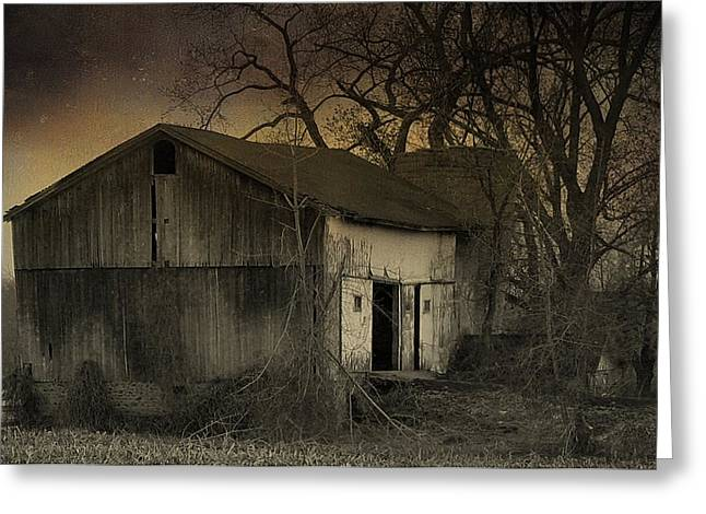 Ominous Sky Greeting Cards - Approaching Nightfall Greeting Card by Gothicolors Donna Snyder