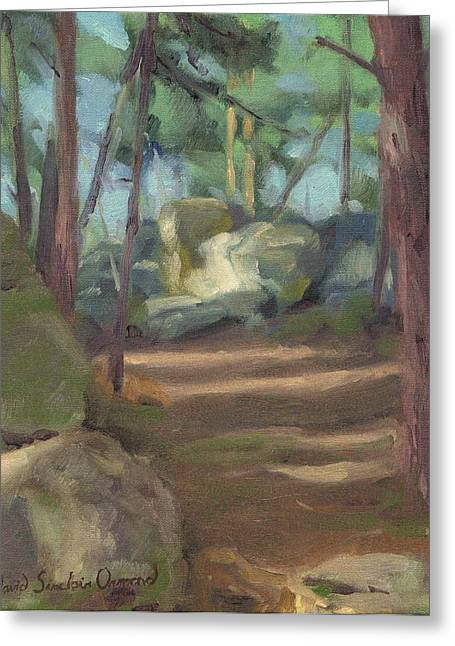 Paysage A L Greeting Cards - Approaching St. Germain Rock - En approchant rocher St. Germain Greeting Card by David Ormond