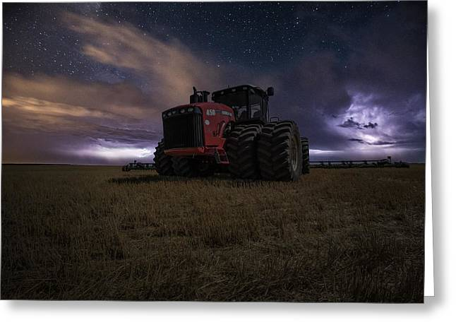 Lightning Storms Greeting Cards - Approaching Storm Greeting Card by Aaron J Groen