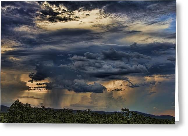 Approaching Storm Greeting Card by Douglas Barnard