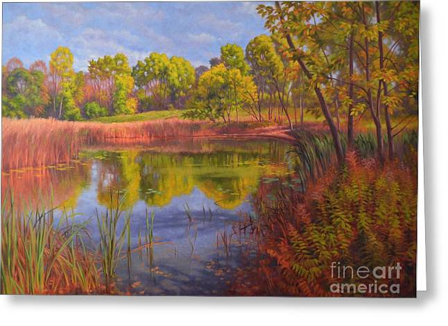 Autumn Landscape Paintings Greeting Cards - Approaching Storm Greeting Card by Fiona Craig