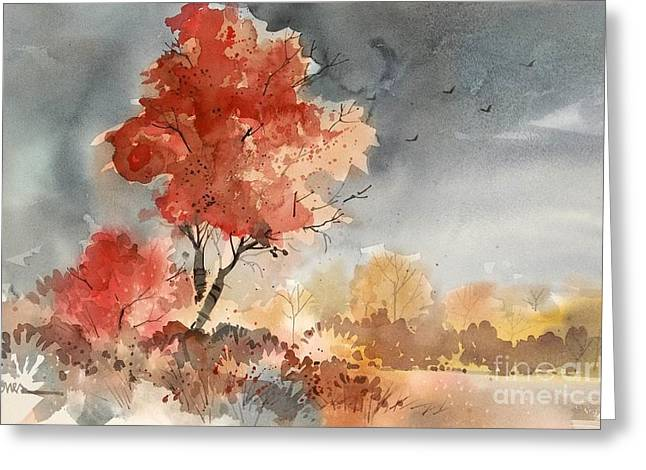 Approaching Storm Greeting Card by Micheal Jones