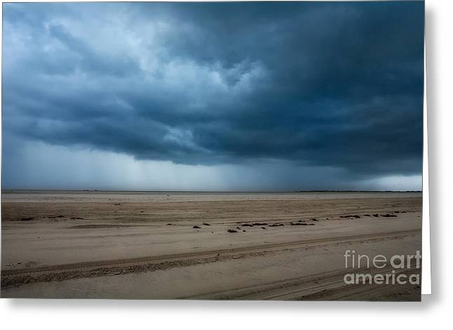 Approaching Storm - Outer Banks Greeting Card by Dan Carmichael