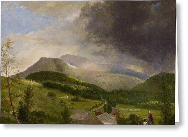 Women Together Greeting Cards - Approaching Storm  White Mountains Greeting Card by Alvan Fisher