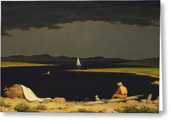 Approach Digital Art Greeting Cards - Approaching Thunderstorm Greeting Card by Martin Heade
