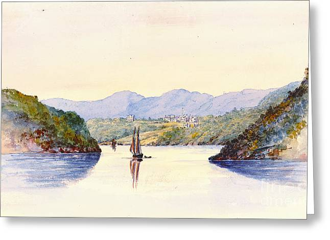 Recently Sold -  - Sailboat Art Greeting Cards - Approaching West Point New York 1846 Greeting Card by Padre Art