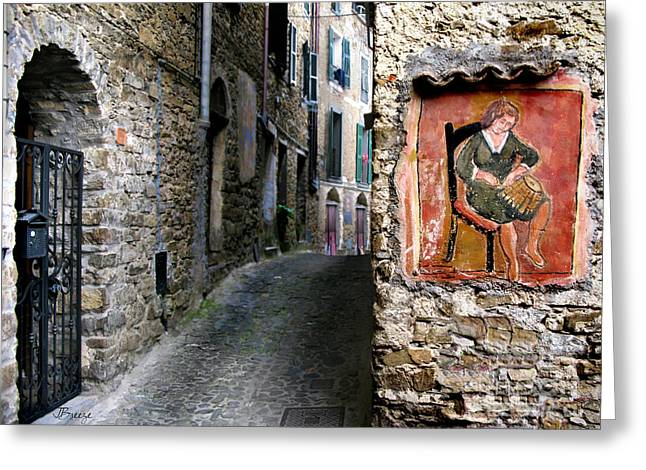 Imperia Greeting Cards - Apricale.Italy Greeting Card by Jennie Breeze