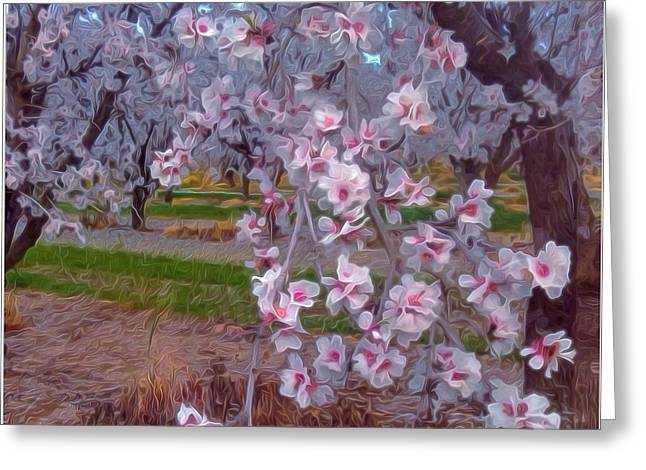 Apricots Mixed Media Greeting Cards - Apricot Branch 2 Greeting Card by Georgia Bassen