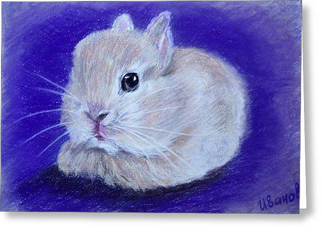 Apricots Pastels Greeting Cards - Apricot Bunny Greeting Card by Iryna Ivanova