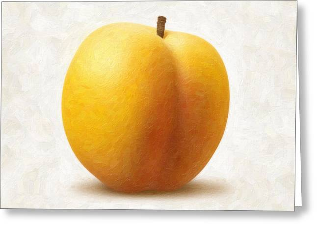Apricots Paintings Greeting Cards - Apricot Greeting Card by Danny Smythe