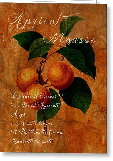 Apricot Digital Art Greeting Cards - Apricot Mousse Greeting Card by Sarah Vernon