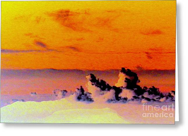 Apricot Digital Art Greeting Cards - Apricot sky Greeting Card by L Cecka