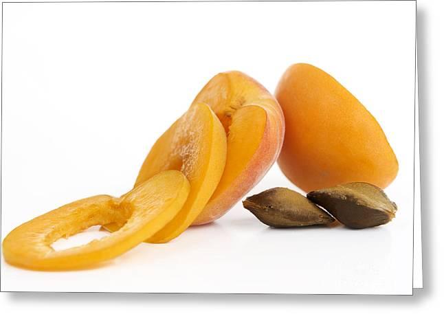 Apricots Greeting Card by BERNARD JAUBERT
