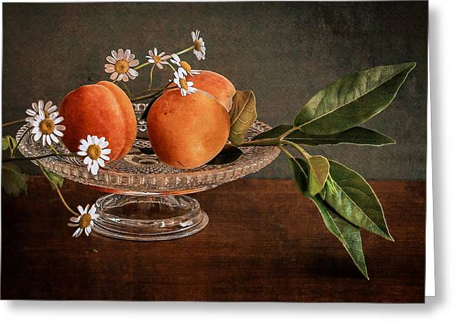 Apricot Digital Art Greeting Cards - Apricots Greeting Card by Hugo Bussen