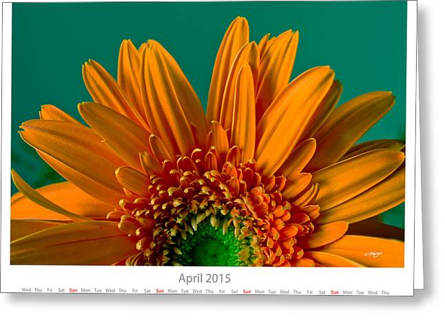 Monthly Calendars Greeting Cards - April 2015 Calendar Sheet Greeting Card by Alejandro Reyna
