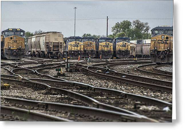 Howell Greeting Cards - April 30 2014 - CSX Howell Yards Greeting Card by Jim Pearson