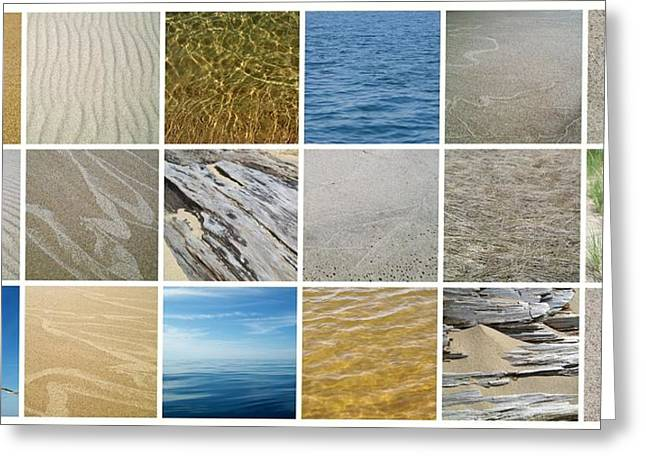 Sand Pattern Digital Greeting Cards - April Beach 2.0 Greeting Card by Michelle Calkins