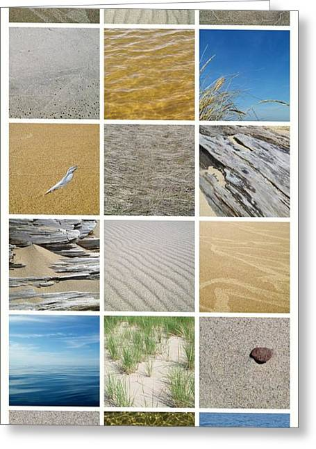 Sand Pattern Greeting Cards - April Beach Greeting Card by Michelle Calkins