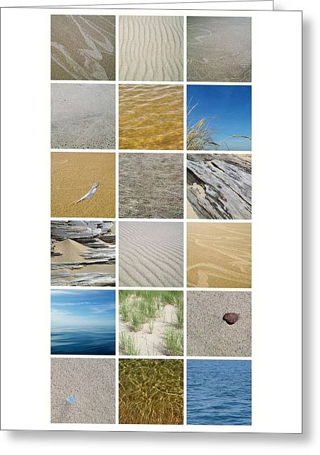 April Beach Greeting Card by Michelle Calkins
