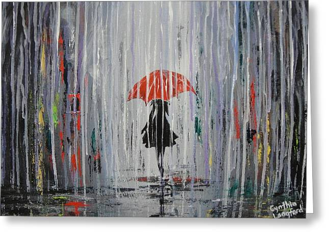 April Showers Greeting Cards - April Showers Greeting Card by Cynthia Langford