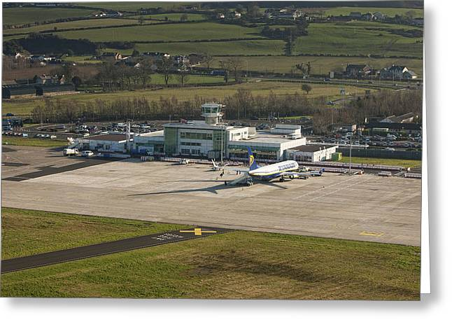 Airport Terminal Greeting Cards - Apron At City Of Derry Airport Greeting Card by Colin Bailie