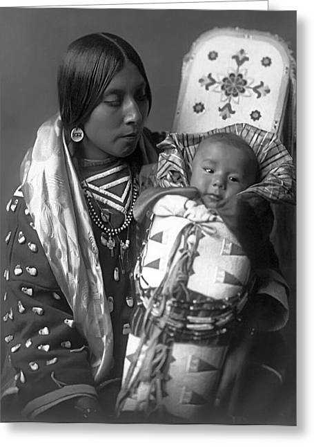 Babys Greeting Cards - APSAROKE WOMAN and BABY  1908 Greeting Card by Daniel Hagerman
