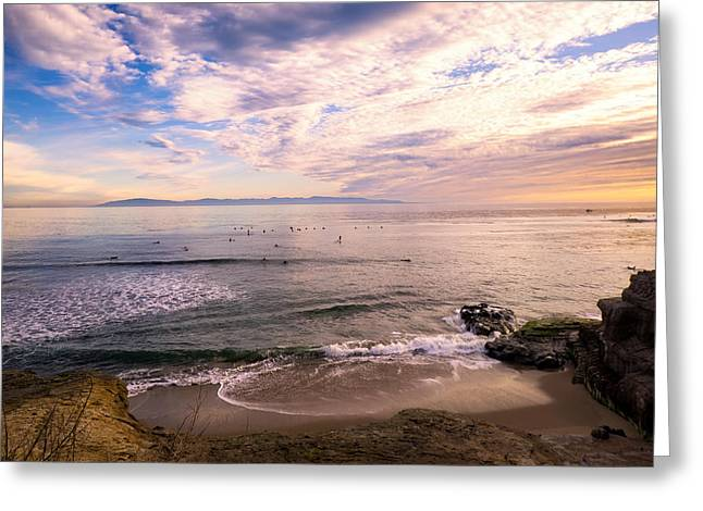 Santa Cruz Surfing Greeting Cards - Aptly Named Greeting Card by Diana Weir