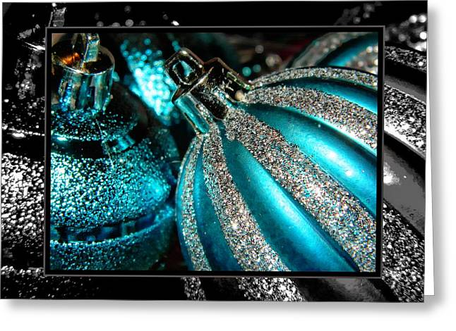 Frizzell Greeting Cards - Aqua Baulbs Greeting Card by Michelle Frizzell-Thompson