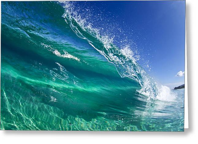 Photographers Fine Art Greeting Cards - Aqua Blade Greeting Card by Sean Davey
