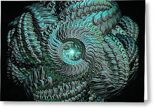 Aqua Celtic Mandala Greeting Card by Michael Durst