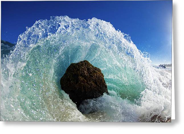 Ocean Art Photography Greeting Cards - Aqua Dome Greeting Card by Sean Davey