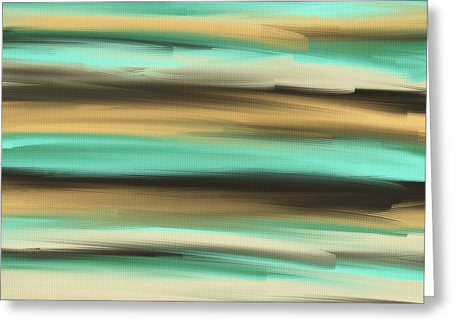 Turquoise And Blue Abstracts Greeting Cards - Aqua Dreams Greeting Card by Lourry Legarde
